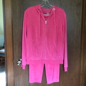 3 piece jogging suit terry cloth